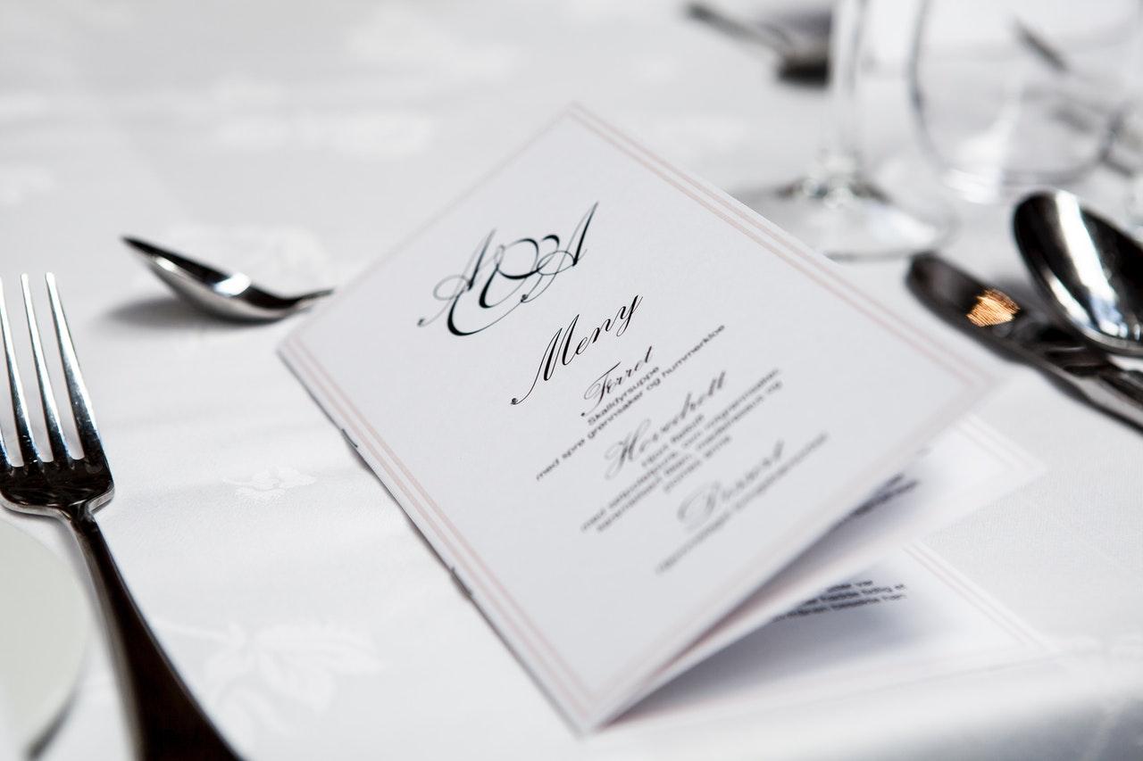 kobberbryllup menu